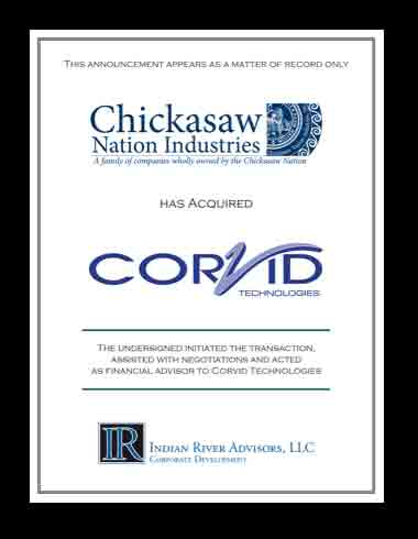 Corvid Technologies Acquired by Chickasaw Nation Industries