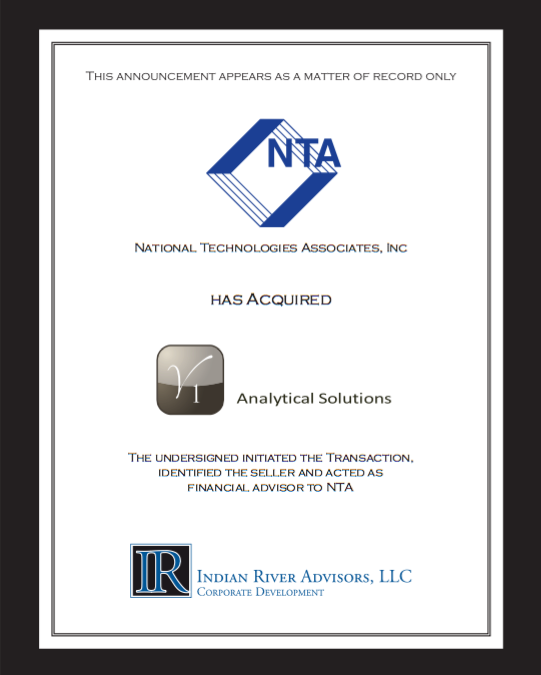 National Technologies Associates Inc. Acquires V1 Analytical Solutions to Expand Capabilities in Intelligence and Information Solutions